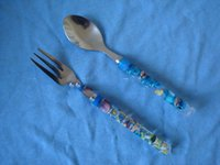 Wholesale Camping tableware knife fork spoon stainless steel in travel case