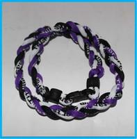 Bohemian baseball energy necklace - Energy necklace tornado baseball necklace fashion health sport titanium necklace germanium necklace size quot quot quot quot
