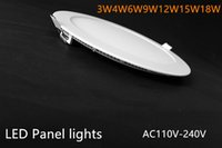 Wholesale 9w Round Warm White k Super Bright Ultra thin LED Panel Lamp Ceiling Lamps Recessed Light with LED Driver V V