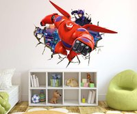 art armor - Super hero corps Wall Stickers d wall armor Baymax wall stickers Children s room cartoon wall stickers Home Décor Bedroom wallpaper