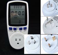 Wholesale US Plug Power Meter Energy Monitor Watt Voltage Amps Meter Analyzer Medidor With Power Electricity Usage Monitor