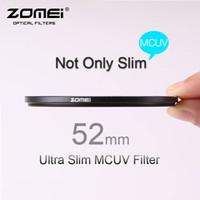 Wholesale 52mm ZOMEI PRO Ultra Slim MCUV Layer Multi Coated Optical Glass MC UV Filter for Canon NIkon Hoya Sony DSLR Camera Lens mm Free ship
