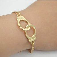 asos bracelet - Fashion ASOS alloy Handcuff Bracelets gold manacle bangle hand cuffs for women men punk statement jewelry
