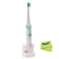 Wholesale Sonic Waterproof SmartClean Electric Healthy White Rechargeable Toothbrush with Standard Replacement Toothbrush Heads Nozzles Soft Bru
