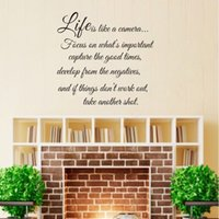 art color quotes - new black color Life Is Like A Camera Vinyl Wall Sticker Quote Sayings Words Art Decal Decor