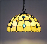 Wholesale The new European style inch Tiffany peacock tail restaurant kitchen chandelier crystal lamps stylish modern glass ornaments