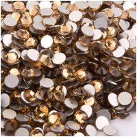 art colorado - Diffierent Size NON hot fix Rhinestone light colorado topaz Color SS3 SS34 Crystals Flat Back Rhinestones Nail Art Non Hotfix
