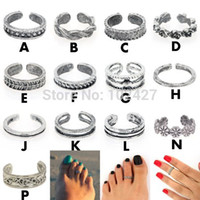 antique ladies ring - Women Lady Elegant Adjustable Antique Silver Metal Toe Ring Foot Beach Jewelry Style U Pick