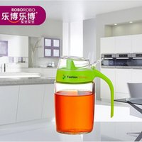 apple server tools - Fashion kitchen supplies cooking tools mL apple green leakproof health Oiler oil pot set Kitchen Novelty households oil bot