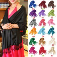 Wholesale New Arrivals Women Lady Long Shawl Wrap Scarf Scarves Winter Warm Cashmere Solid Fashion EA38