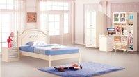 Wholesale Navy Blue Children House Furniture Bedroom Furniture wood furniture Bed desk wardrobe cabinet storage function bed MYL6601