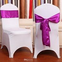 Cheap Chair Cover wedding Supplies Best Polyester Ivory Chair Sashes