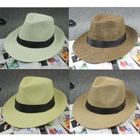 mens fashion caps - Lovers Cap Summer Hats Lovers Cap Fashion Womens Mens Summer Bowknot and Weaving Hats Hot Womens Stain Hats