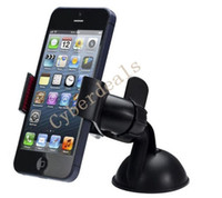 Wholesale 2015 new Car Windshield Mount Stand Holder For iphone6 samsung galaxy s3 s6 Cellphone GPS Holders Smartphone With Retail Package
