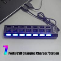 Wholesale Portable New Universal Black USB Multi Port Socket Ports USB Hub Charging Charger Station