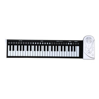 Wholesale Portable Keys Electronic Piano Flexible Unique Design Roll Up Piano Durable Soft Silicone Rubber Keyboard Piano DHL I977