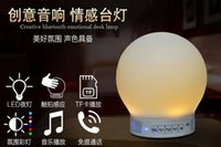 Wholesale Smart Lighting Bluetooth Speaker Mini Portable Wireless LED Lamp Stereo Loudspeaker Handsfree TF card