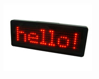 Wholesale Indoor And Outdoor Dots LED Name Badge Scrolling Screen Badge Business Card Tag Display Support Any Language Blue Red White