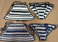 acrylic crochet hooks - omen Sexy Beach Bikini Crochet Crop Tops Bikinis board Shorts Bikini Set Lady Holiday Knitting Hook Bathing Suit in Swimwear