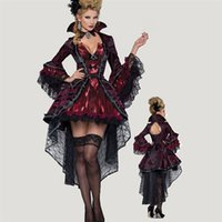 bad witch - 2015 Dropshipping Women Fashion Vampire Halloween Witch Dress Bad Monster Costume Women Cosplay Costumes Game Uniforms Vampire Costumes