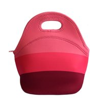 Wholesale lancheira thermo thermal insulated neoprene lunch bag for women kids lunchbags tote with zipper cooler lunch box insulation bag