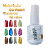 Wholesale Choose Any Colors Nail Polish IDO Gelish ml Metallic Colors Nail Art Soak Off Base Top Coat