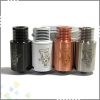 hatter - Newest Mad Hatter RDA Atomizer mm with Wide Bore Drip Tip Mad Hatter Rebuildable Atomizer Colors SS Black Copper White DHL Free