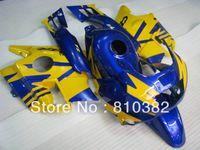 Cheap Abs-plastic trim kit for CBR600F2 CBR 600 CBR 600 F2 1991 1992 1993 1994 91 92 993 94 yellow blue motorcycle fairing