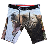bear boxer - Ethika Male Sports Short with Fierce Bear and Forest Mens Professional Brand Athletic Boxer Underwear Super Soft Breathable