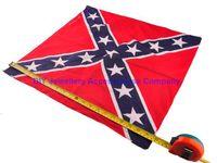 Wholesale 200pcs CM Civial War Flag Print Bandanas Cotton Confederate Rebel Flag Headbands Fashion Hiphop Headbands
