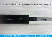 Wholesale LED Track lighting Fixture AC85v v meterTracklight Black White Track light Spotlight Fixture connector Warranty years