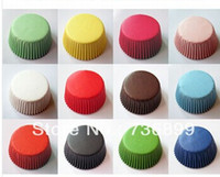 cupcake liners - 400pcs assorted solid color Greaseproof Paper Cupcake Liners Baking Cups Muffin paper Cases for cupcake baking