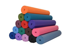 yoga mat - Yoga Mat Lightweight Classic Premium Non Slip Eco Friendly with Carry Strap TPE Material Yoga Mat and Exercise Pad