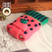 Wholesale Three lovely sweet watermelon phone shell material package package package sheep blankets poke fun handmade DIY materials