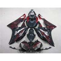 Wholesale Red Flame Fairing Kit For Yamaha YZF R1 Best Match Injection Mold Motorbike Parts Glossy Black Motorcycle Cowling