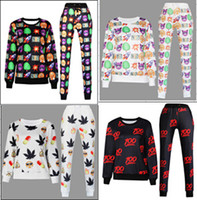 Wholesale new hot Sweatshirt emoji fashion emoji clothes kinds of style optional tracksuits Sport Suits Sports Set Sweatshirt set MY