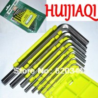 Wholesale HUIJIAQI set Hexagon Screwdriver Hexagon Wrench Set Allen wrench NO order lt no track