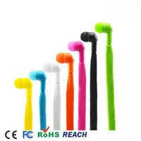 Cheap High A+ Quality 3.5mm 1.2M Shoelace Earphone Headphones in-ear phone for cellphone ipad ipod ect with retail package retail box packing