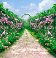 Wholesale 6 Ft Ft Garden Flowers Arches Road Wedding Photo Studio Backdrops Cameras Photography Backgrounds A