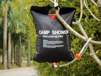 Wholesale 2015 New Solar Portable Outdoor Camping Shower Showering Bag Heating Bag L pieces