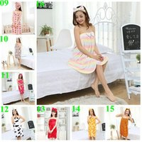 Wholesale 2015 hot color autumn women nighty sexy wrapped strapless Robes bowknot nightgown coral flannel nightwear bath towel pajamas TOPB3561