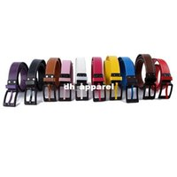 Wholesale Fashion Unisex Waist Belt Women Men Faux Leather Plastic Buckle Waistband Strap Drop shipping