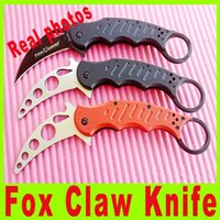 Cheap 3 styles Fox karambit claw Folding knife 440C steel Blade 60HRC Tactical knife new in Original box Tactical utility hiking knives 659X