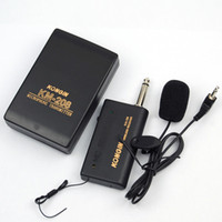 Wholesale S5Q Wireless FM Transmitter Receiver Lavalier Lapel Clip Microphone Mic System AAACFP