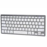 computer keyboard - Silvery White Bluetooth Wireless Keyboard Supported WIN IOS System Popular Computer Keyboard with Keys Hot Sale HYK BT201