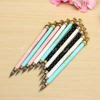 Wholesale Fashion Hot set Colourful Crown Black Ink Elegant Korean Lovely Cute Pearl Gel Pen Kid School Office Supply Gift