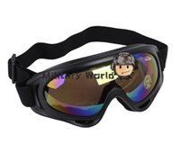Wholesale 4 colo Airsoft Military UV400 Wind Dust Goggle Glasses Tactical Protection Cycling Riding Hunting Goggle Glasses Black R order lt no trac