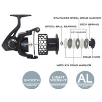 Wholesale KastKing Brand New Series KG Drag Super Light Graphite Body Spinning Reel Faster Speed BBs Saltwater Fishing Fly Reel