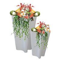 Wholesale Custom fiberglass pots petal mouth pots decorated pots mall portfolio