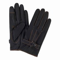 leather gloves - Soft Warm Telefingers Gloves Men Women Thickening Touch Screen Gloves Cashmere Washable Leather Five Fingers Gloves EMM